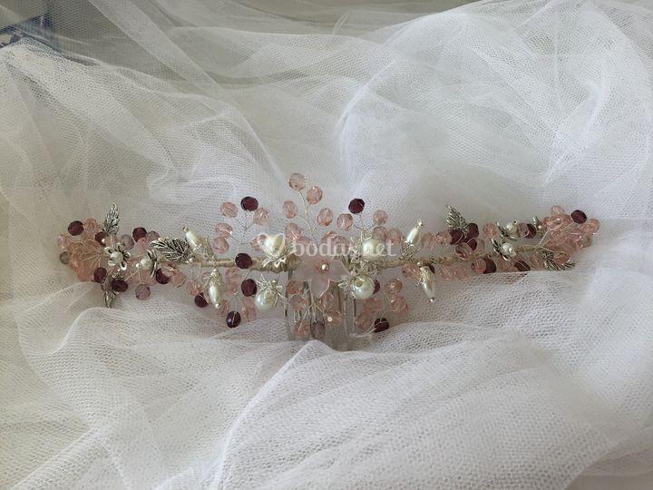 Tiara joya cristales checos