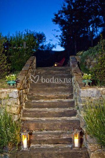 Escaleras del jardín