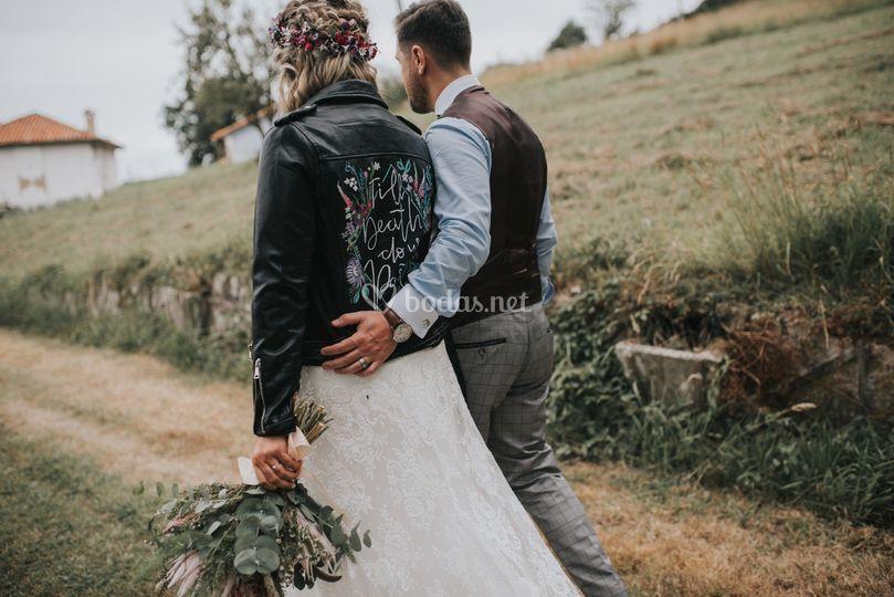 Biker personalizada para novia