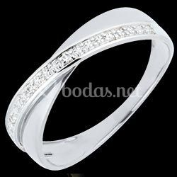 Alianza de dos anillos y diamantes   Funambule