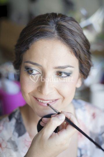 Maquillaje con aerógrafo María