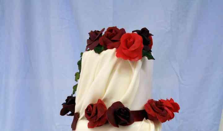 Tarta nupcial rosas
