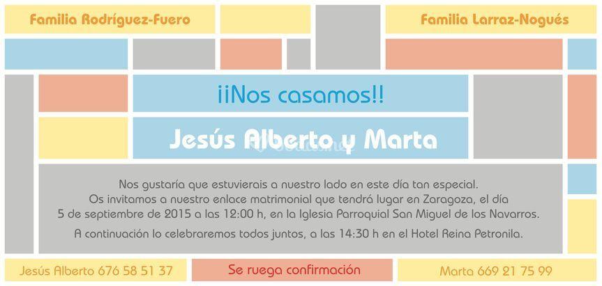 Boda de Jesús y Marta - cara 2