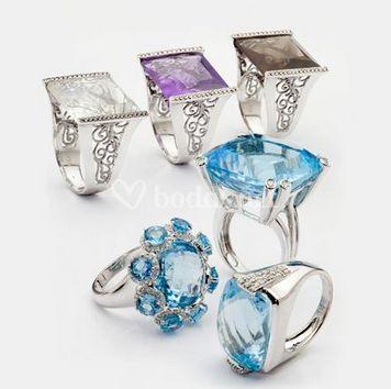 Variedad de piedras