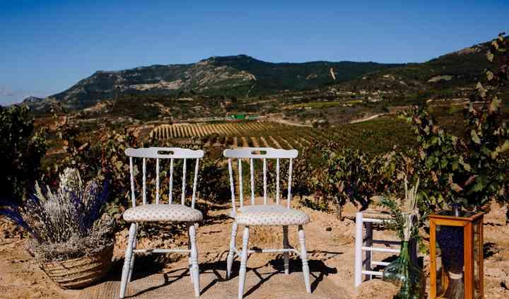 Altar boda entre viñas