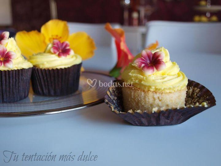 Cupcake coco y platano