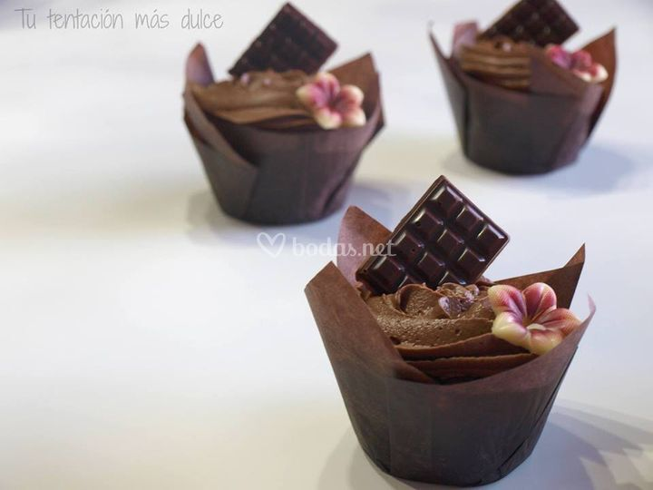 Cupcake 3 chocolates
