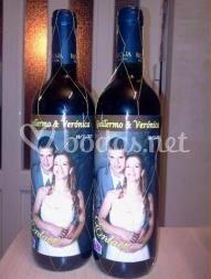 Botellas personalizadas de boda