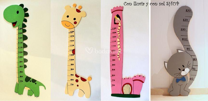 Medidores infantiles de madera