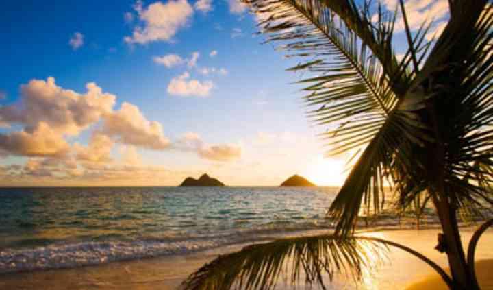 Atardecer en playas del Caribe