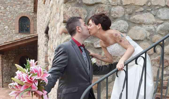 Beso en escalera