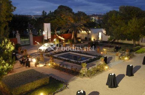 Jardín para celebrar aperitivos
