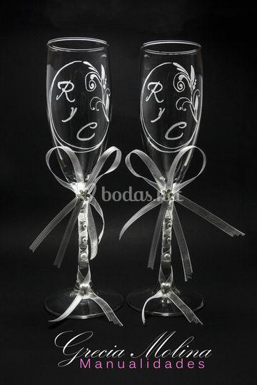 Copas talladas en cristal