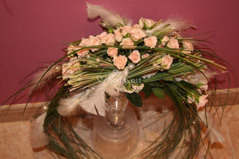 Ramo de novia medialuna