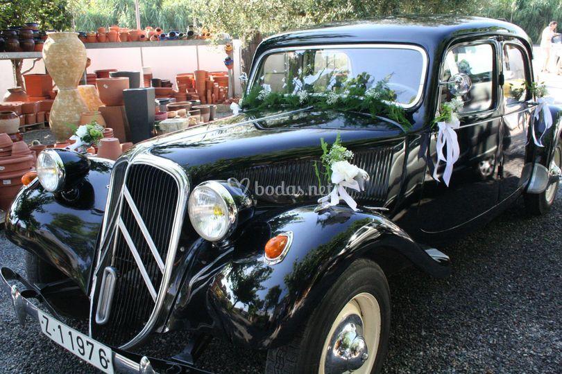 Detalle en coche antiguo