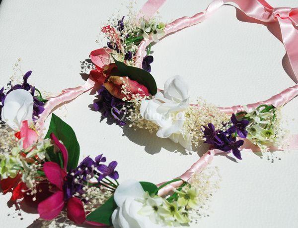 Coronas de flores para damitas