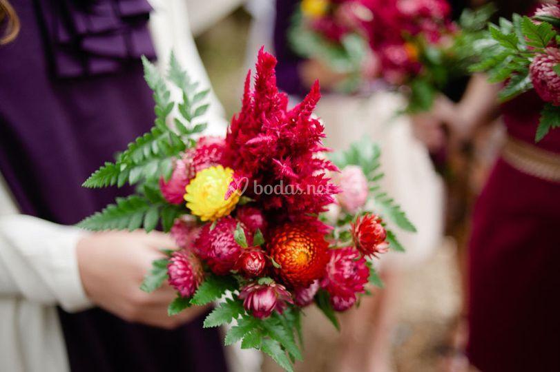 Bouquets llenos de color