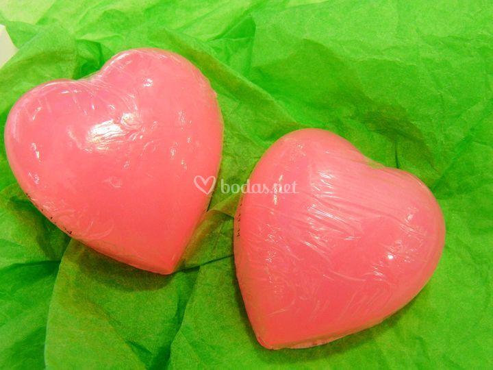 Jabón en forma de corazón