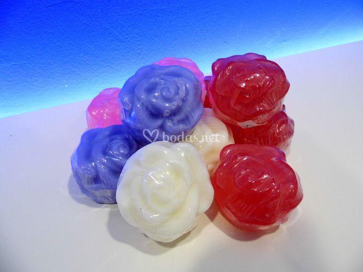 Jabón detalle forma de flor