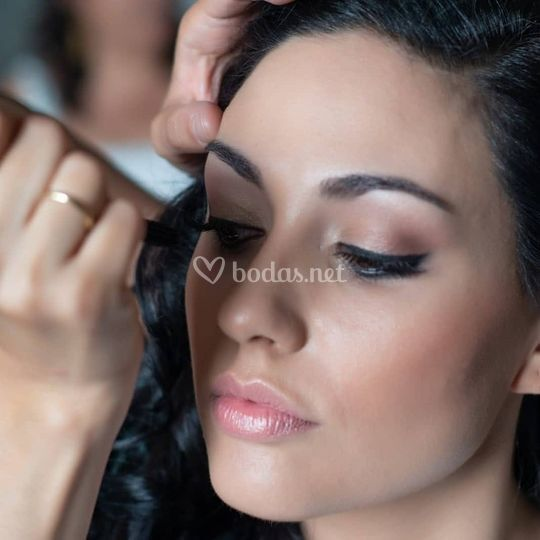 Natural con eyeliner