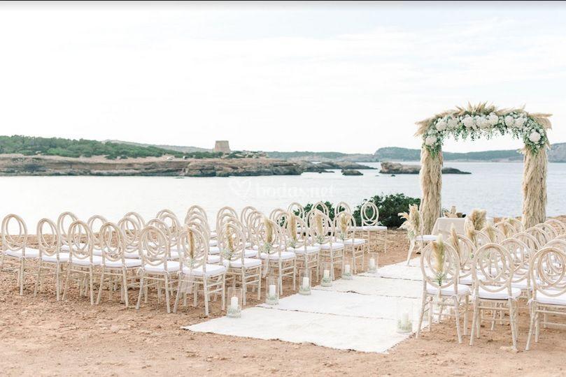 Ceremonia con vistas al mar