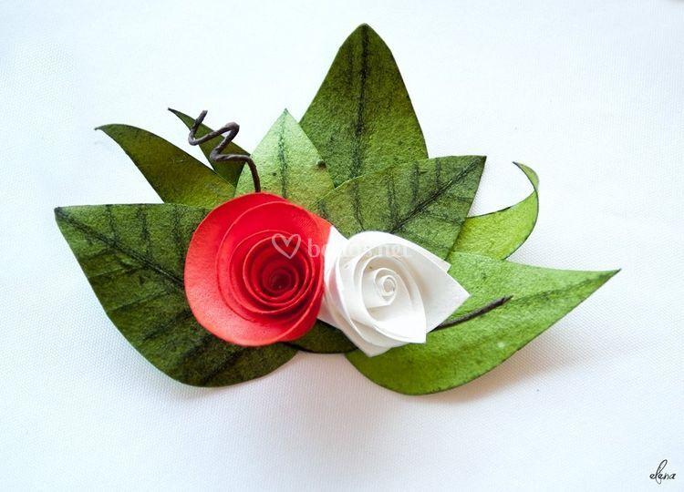 Flores con papel semillas