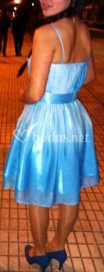 Vestido en azul