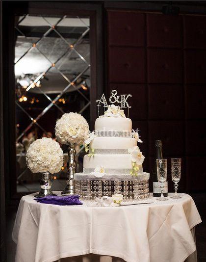 Guarnición mesa de la tarta