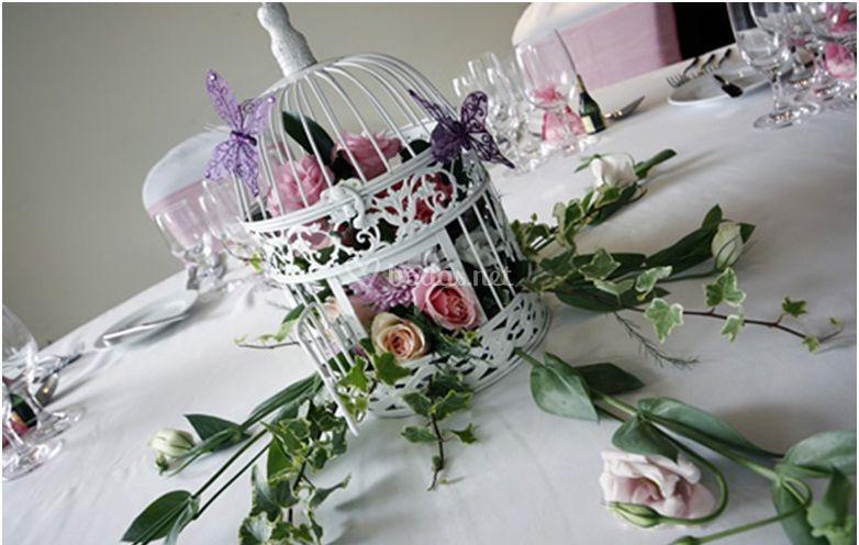 Decoración floral de la mesa