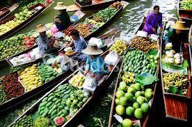 Mercado flotante - Tailandia