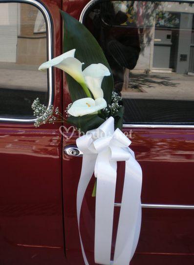 Detalle de la puerta del coche
