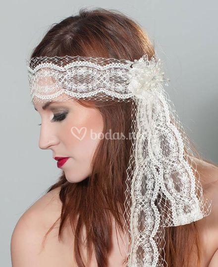 Banda de novia de encaje