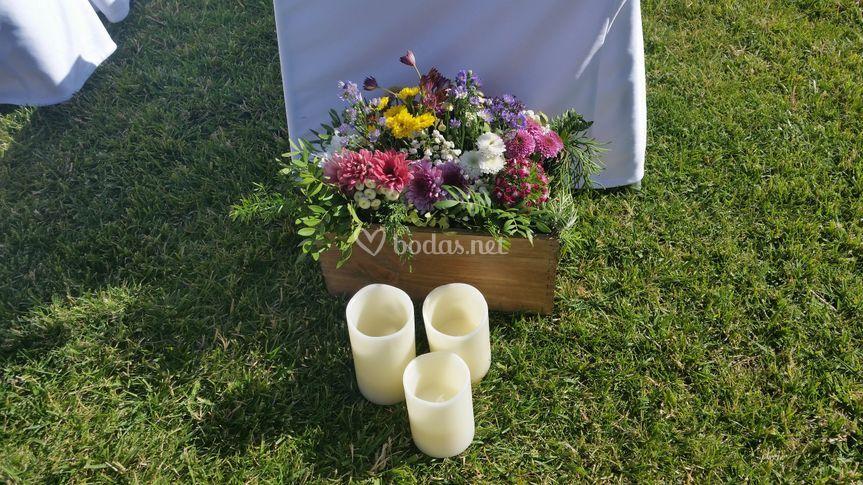 Decoración ceremonia jardín