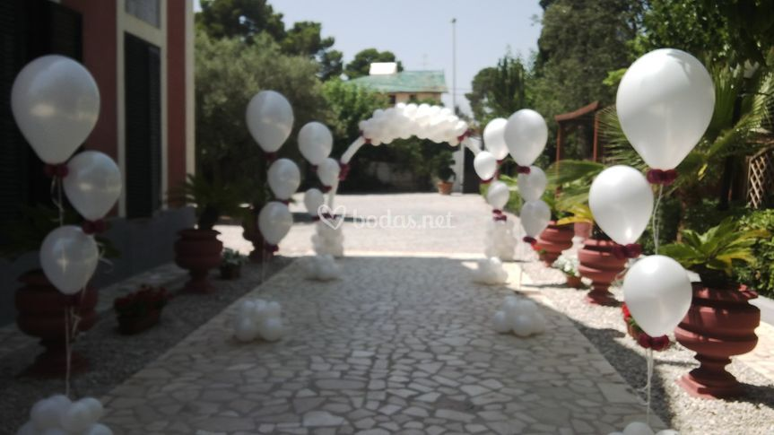 Decoraci n entrada boda de party land m laga foto 7 for Decoracion jardin granada