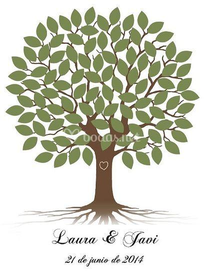 Árbol de huellas personalizado