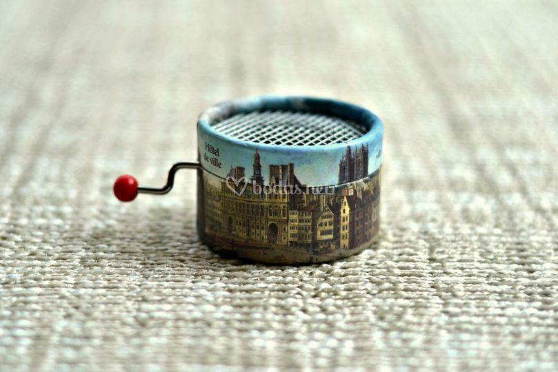 Caja de música edificios de París
