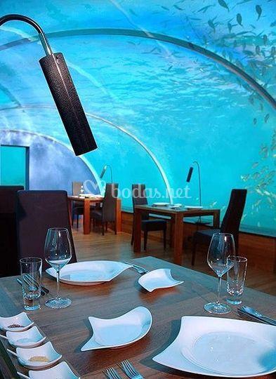 Restaurante en el acuario