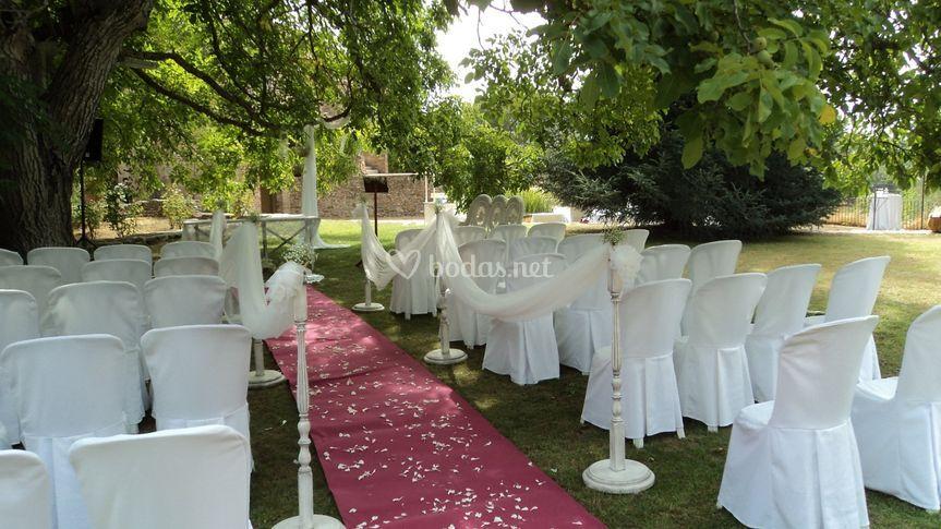 Montaje exterior ceremonia