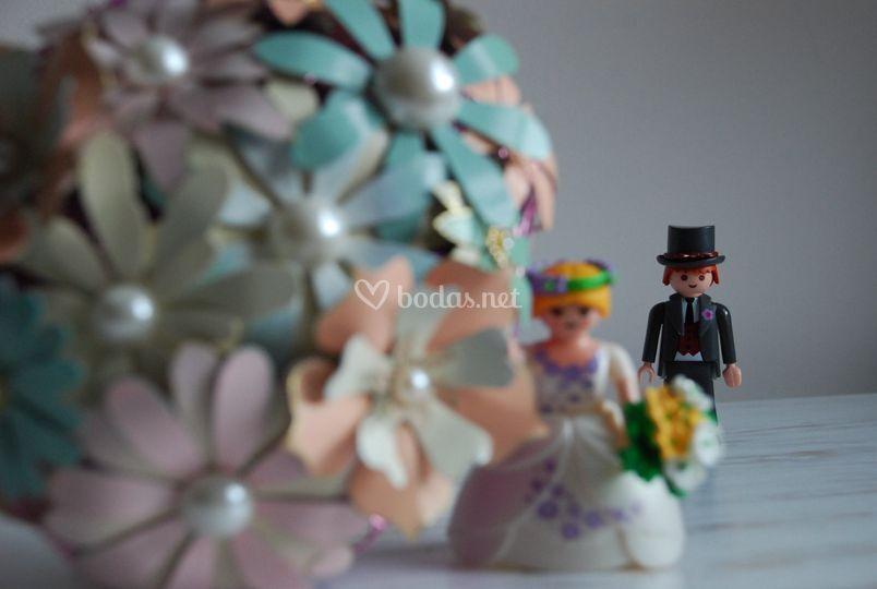 Bouquet mint&pink