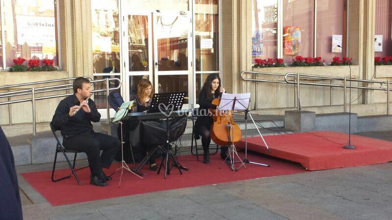 Actuación en la Plaza Mayor