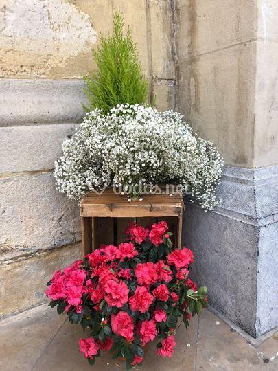 Ejemplo de decoración floral