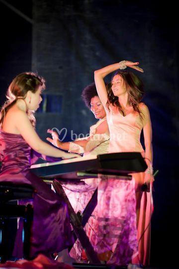 Durante la actuación