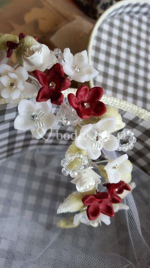 Corona de flores de vela