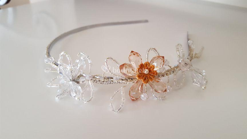 Diadema Flor cristal