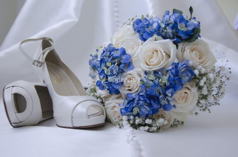 Ramo hortensias azules