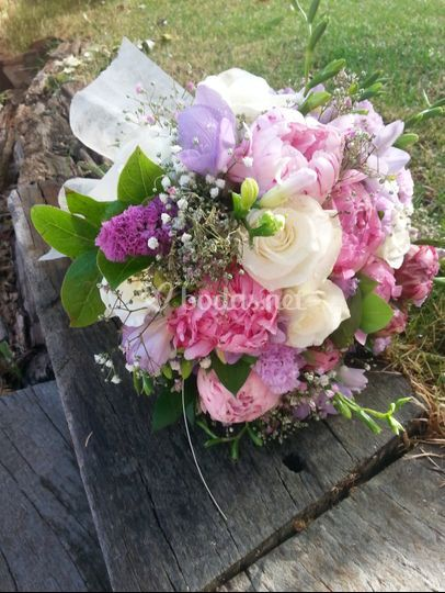 Ramo de novia bouquet compacto