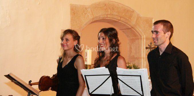 Trío soprano violín piano