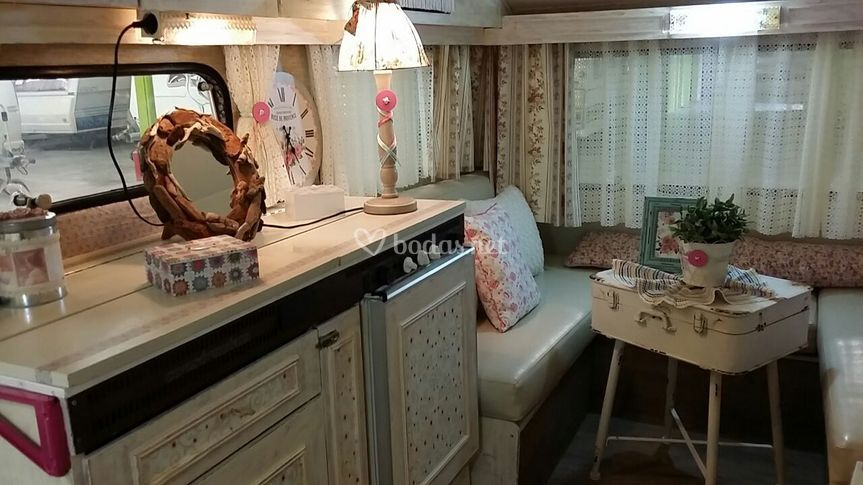 Interior  de la caravana