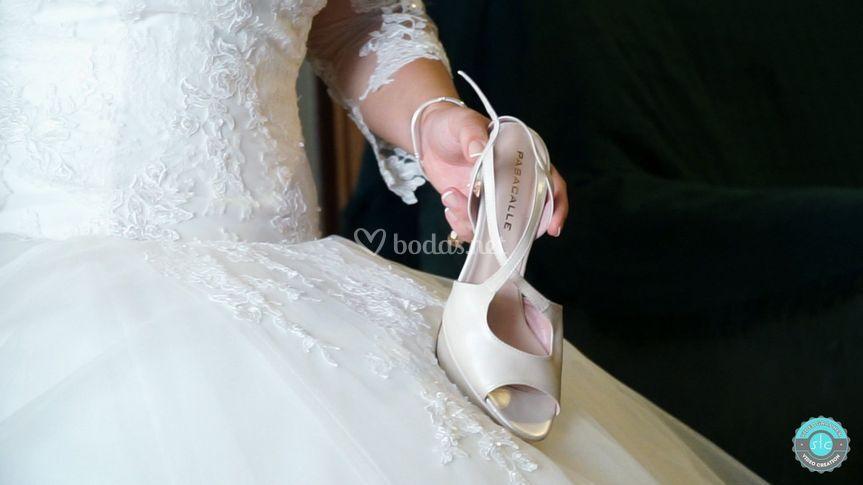 Detalles de novia, zapatos