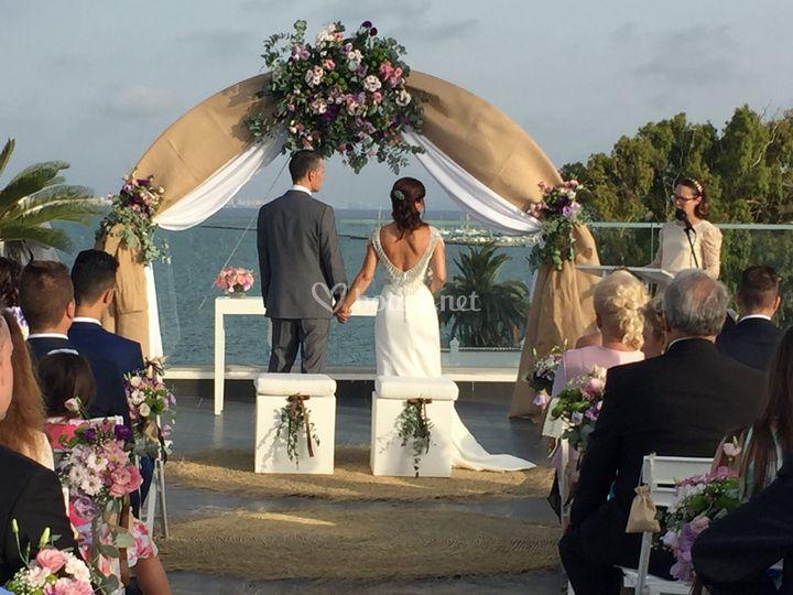 Ceremonia en terraza